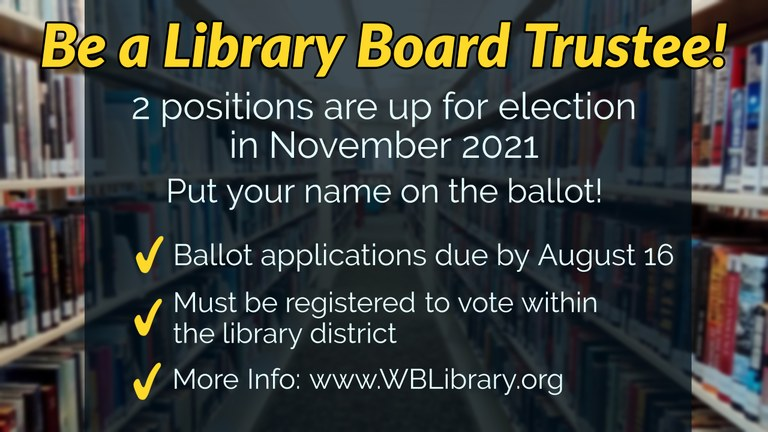 Put your name on the ballot for the November 2020 election! Details below.