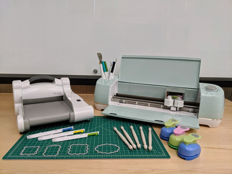 photo of tools for embossing and cutting
