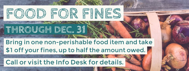 Help the hungry AND pay down your library fines.