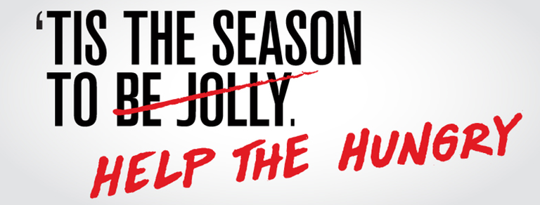 'Tis the season to help the hungry.