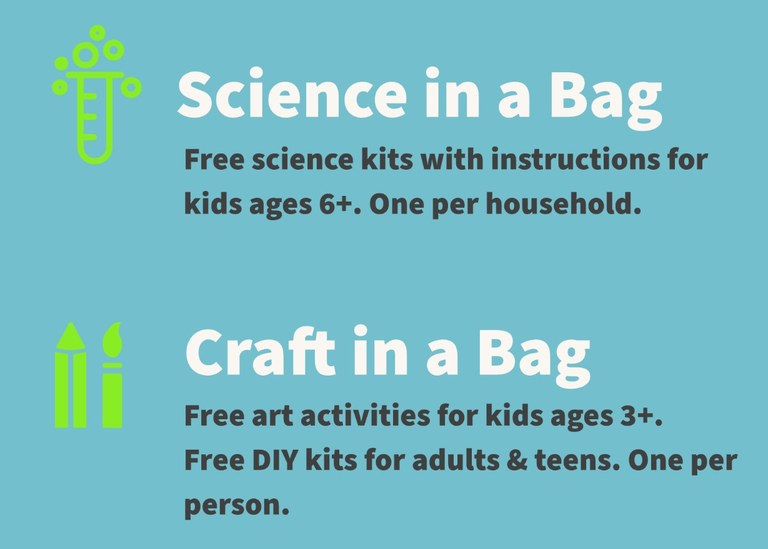 Craft in a Bag and Science in a Bag Kits