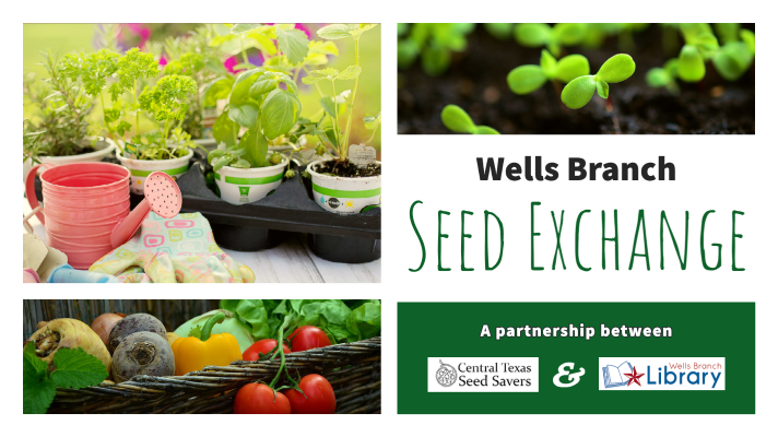 Wells Branch Seed Exchange. A partnership between Central Texas Seed Savers and Wells Branch Community Library