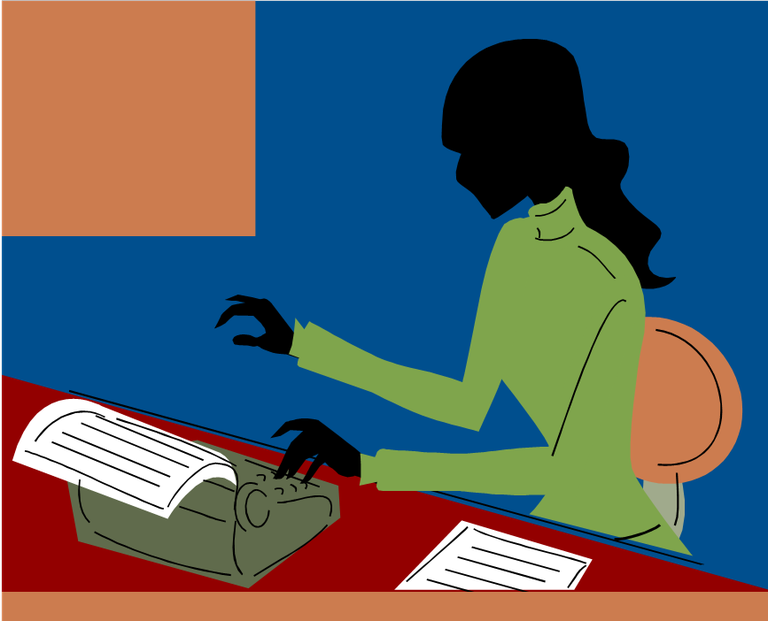 Clipart image of writer
