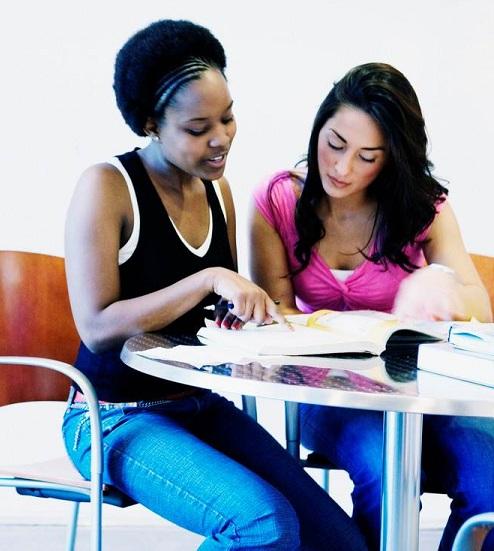Women studying
